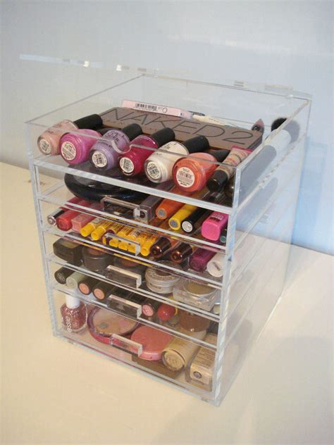 Makeup Drawers by Acrylic Lucite Makeup Organizer Clear Cosmetic Storage 5