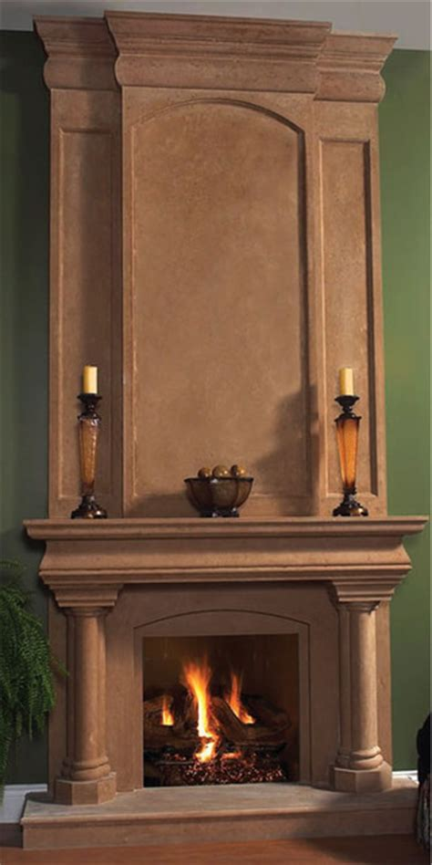 trevi fireplace overmantel traditional indoor