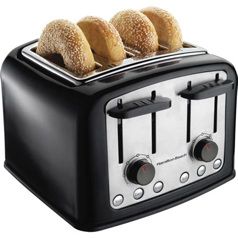 toasters at walmart hamilton smarttoast 4 slice toaster walmart