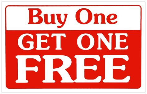 Buy L by Buy One Get One Free Retail Store Sale Business Discount