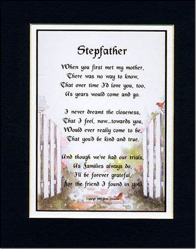 step fathers day poems a gift for a stepfather touching 8x10 poem