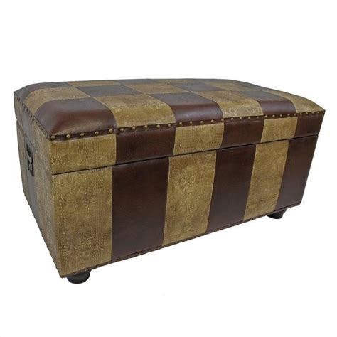 bench trunking faux leather bench trunk in mix pattern ywlf 2186 mx