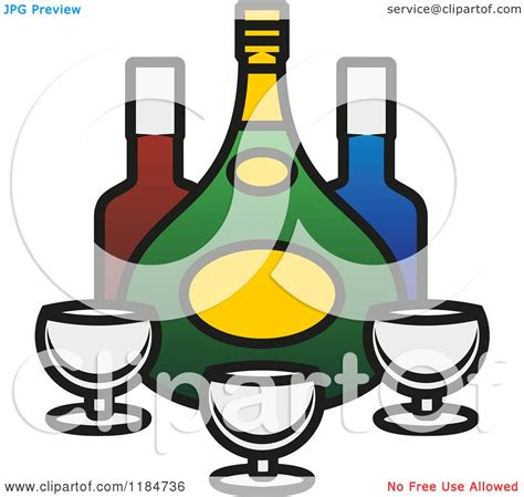 alcohol vector clipart of bottles of alcohol and glasses 3 royalty free