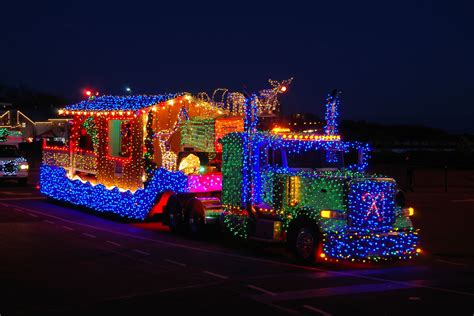 lenses and wheels christmas light truck parade