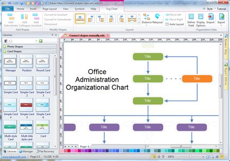 Office Administration Organizational Chart Department Organizational Chart Template