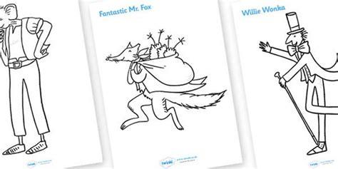 coloring pages fantastic mr fox roald dahl colouring sheets roald dahl colouring sheets
