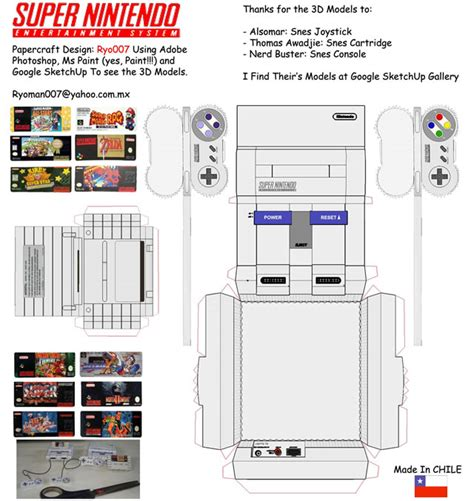 Nes Papercraft - 40 amazing papercraft templates for the inside you