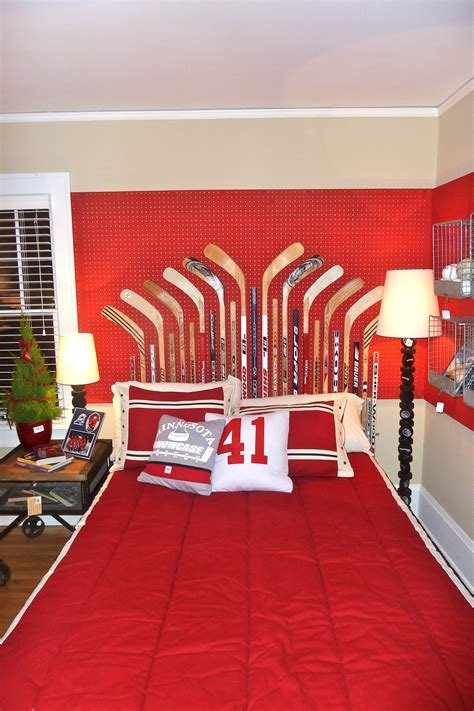 boys hockey bedroom redecorating your child s room in a sporty theme the
