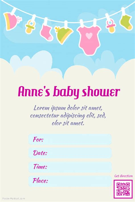 baby shower flyer templates ba shower flyer template