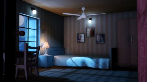 bedroom night 3d lighting and compositing artist bedroom scene night scene