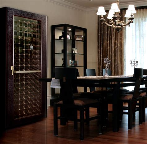 Dining Room Wine Cabinet Dining Room With 200wcg Model Economy Wine Cabinet With Glass Door Traditional Dining Room