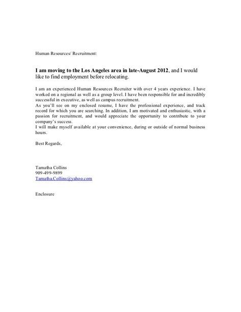 Cover Letter For When Moving Cover Letter And Resume