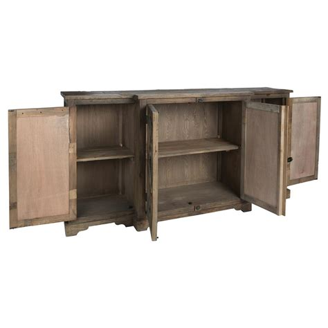 wayside wood buffet sideboard cabinet with glass paneled