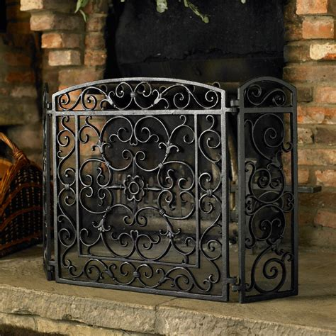 Decorative Fireplace Screens Wrought Iron by Ideas Decorative Yet Protective Wrought Iron Fireplace