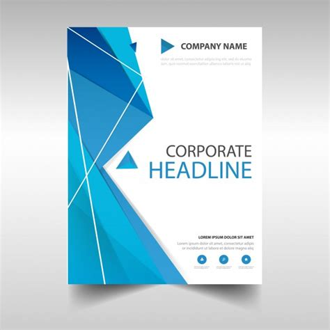 Free Report Cover Templates Polygonal Annual Report Book Cover Template Vector Free