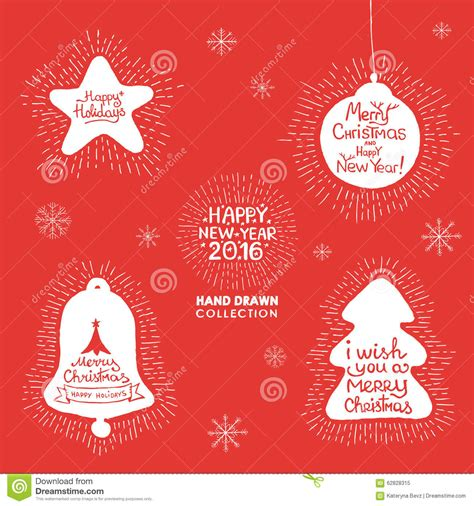 new year set design happy new year lettering set stock vector image