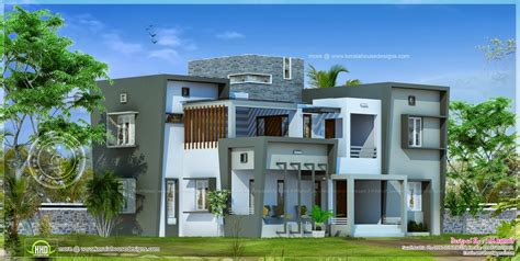modern home plans with photos modern house design in 2850 square feet home kerala plans