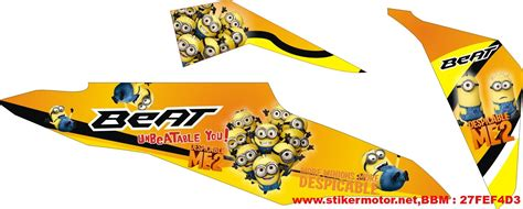 Striping Variasi Beat Fi 40 striping motor beat fi minion stikermotor net