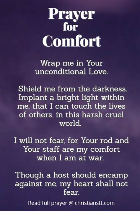 prayer for peace and comfort a prayer for comfort