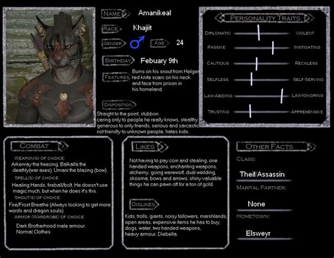 skyrim character templates skyrim oc template amanikeal by sniper on deviantart