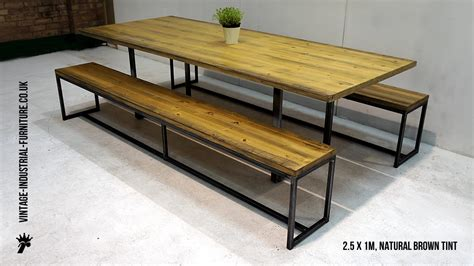 dining tables benches industrial loop leg dining table