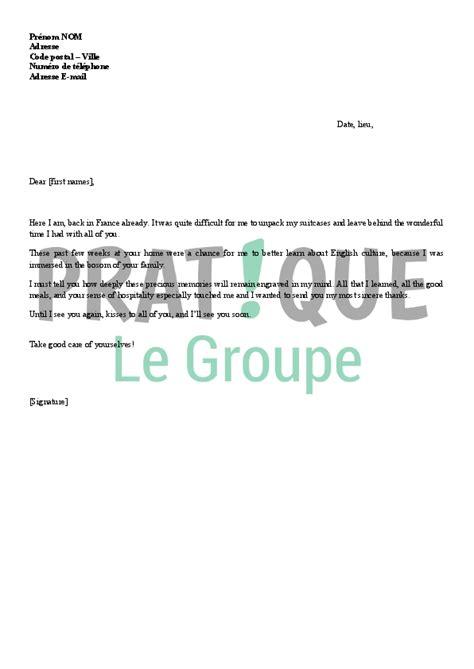 Lettre De Remerciement Entreprise Gratuite lettre de remerciements suite 224 un s 233 jour en angleterre
