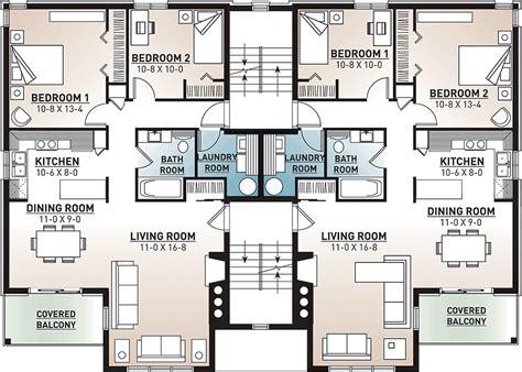 multi family plan 64952 at familyhomeplans