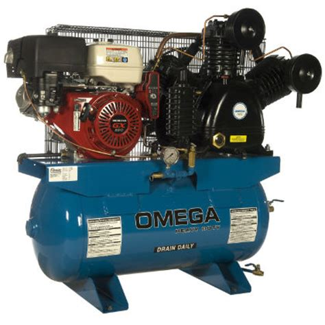 omega industrial gas series air compressors