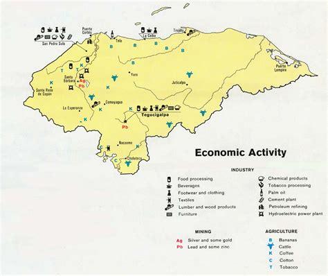 america economic map nationmaster maps of honduras 9 in total