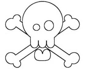 Skull And Crossbones C sketch template