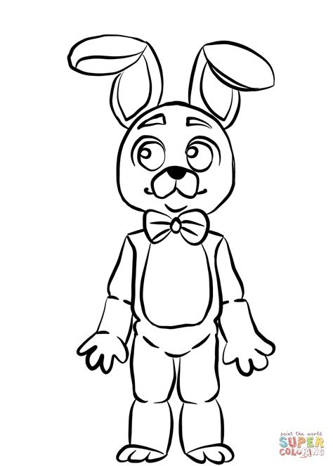 Fnaf 7 Coloring Pages by Fnaf Bonnie Coloring Page Free Printable Coloring Pages