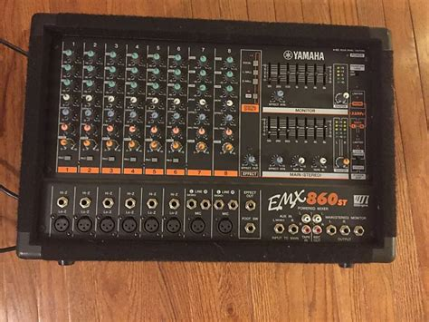 Power Mixer Yamaha 8 Channel yamaha emx860st powered mixer 8 channel 600w effects eq reverb