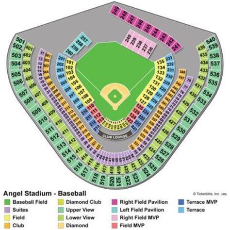 anaheim stadium seating vipseats com angel stadium of anaheim tickets