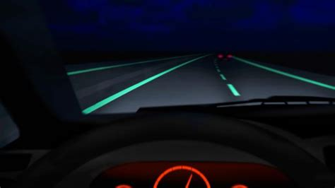 glow in the paint roads glow in the roads light up highway