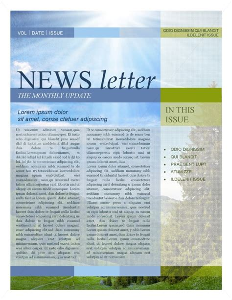 new letter template 5 newsletter word templates excel pdf formats