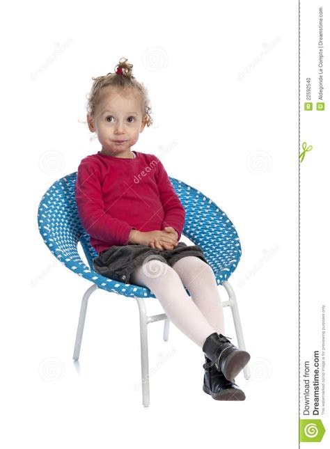 Blue Sitting Chairs Sitting In A Blue Chair Stock Photo