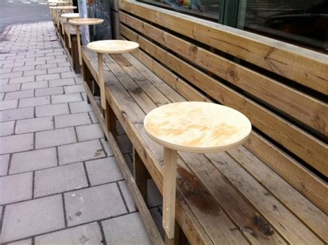 bench cafe mini bench coffee table from frosta stool ikea hackers