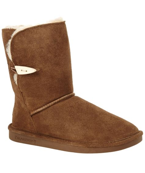 bearpaw boots bearpaw boot in brown save 13 lyst