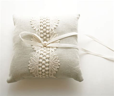 wedding ring pillow ring bearer pillow lace ring pillow