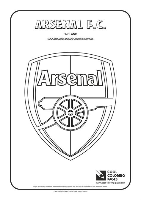 arsenal colors cool coloring pages soccer club logos arsenal f c