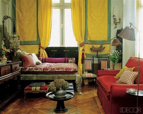 traditional style bedroom  lemon yellow persimmon
