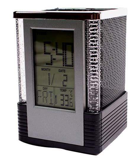Promo Color Change Digital Desk Clock With Pen Holder Jk 286 digital alarm table clock pen holder stand buy at
