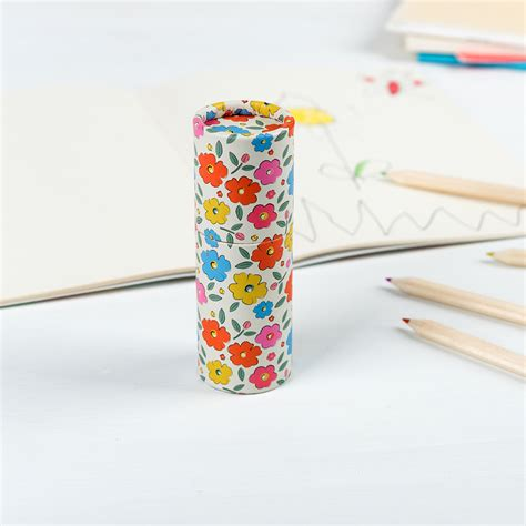 Finite Stationery Set In Tin Pencil Fancy Stationery Set floral maze colouring pencils set of 12 rex dotcomgiftshop