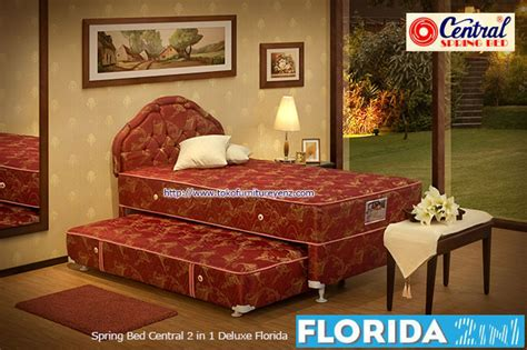 Springbed 2in1 Central Deluxe Florida 120x200 harga bed central 2 in 1 deluxe florida