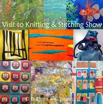 knit stitch show buttons and paint and a visit to the