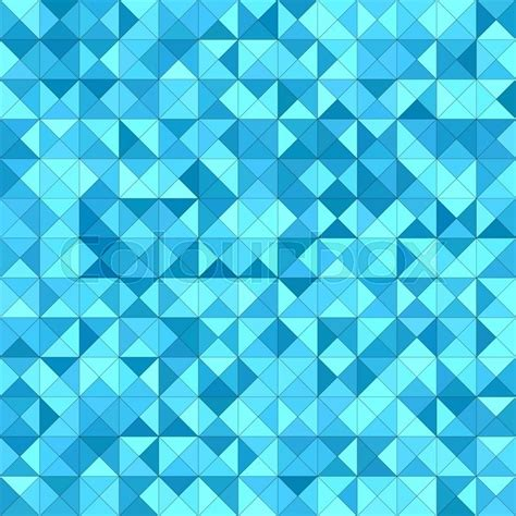 Wall Texture Design by Light Blue Triangle Mosaic Vector Background Design