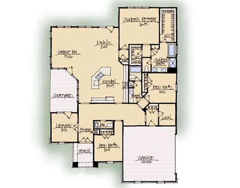 coventry courtyard house plan schumacher homes