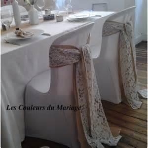 noeud de chaise en toile de jute les couleurs du mariage