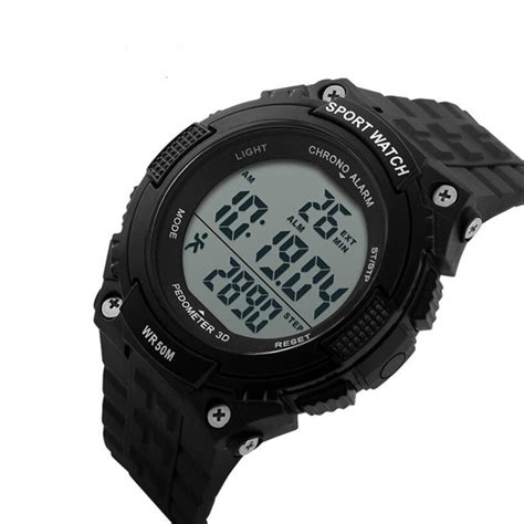 Skmei 9113 Original Water Resistant 50m Black Brown 50m water resistant pedometer sport black