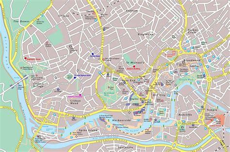 map uk bristol bristol tourist map bristol mappery